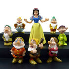 New Cute Snow White and the 7 Dwarfs Action Figure Cake Topper Kid Toy Xmas Gift