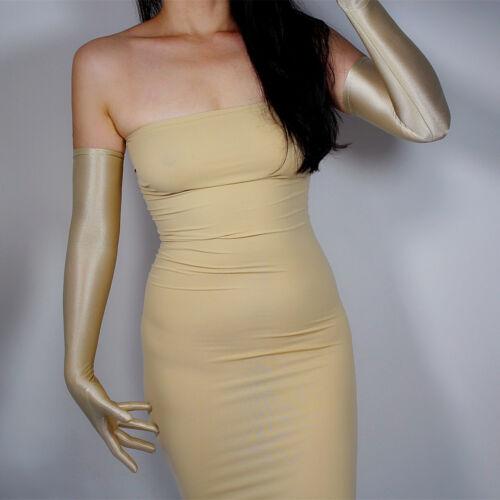 """Tech Long Gants Crème Solaire Protection UV 60 cm 24/"""" OPERA Nu Extensible or crâne"""