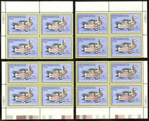 RW51-7-50-1984-Duck-NH-Matched-Set-of-Plate-Blocks