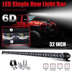 "32"" 1800W Barre LED Light Bar Spot Flood combiné phare de travail Ramp SUV 4x4WD"