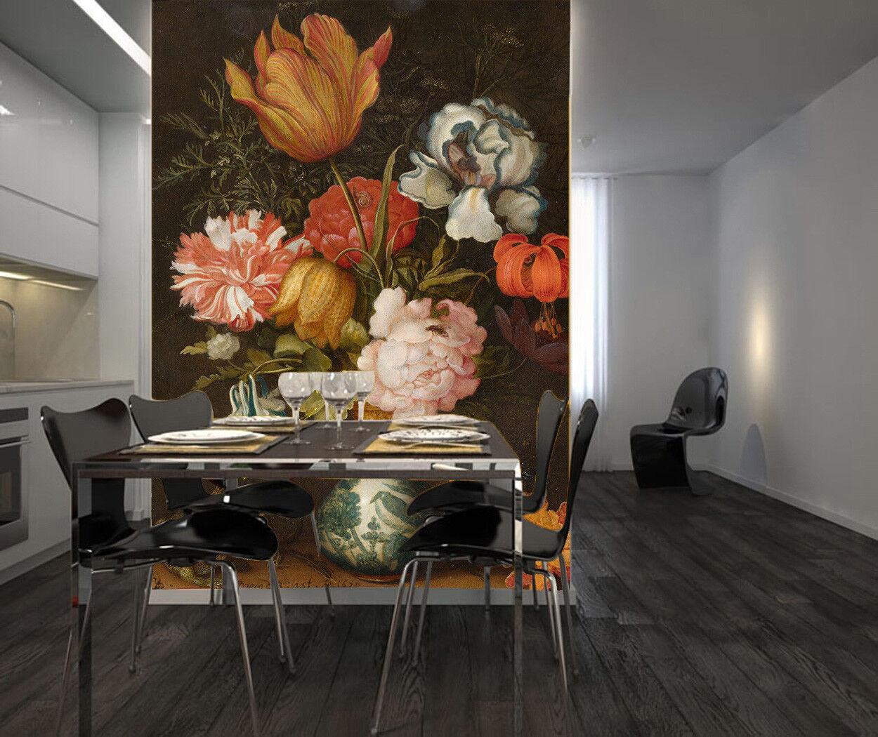 3D ColGoldt Flower 815 Wallpaper Mural Paper Wall Print Wallpaper Murals UK Lemon