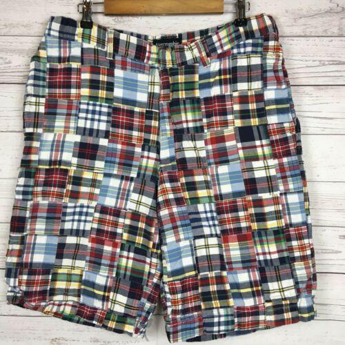 Abercrombie Fitch Mens Plaid Quilt Madras Shorts 3