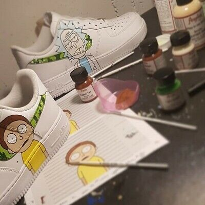 Brand New Air Force 1 Any Size Genuine White Rick And Morty | eBay
