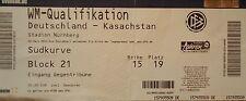 TICKET 26.3.2013 Deutschland - Kasachstan in Nürnberg