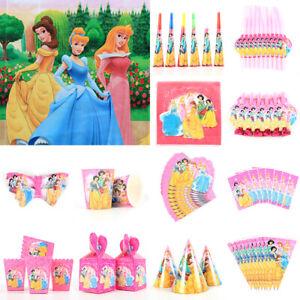 Disney-Princesse-Fete-D-039-anniversaire-Fournitures-sac-vaisselle-Ballon-Plaques-Tasses-Serviette