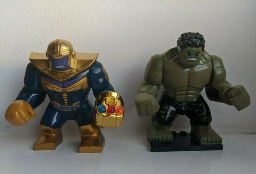 Marvel Avengers Hulk Thanos mini figure superhero building bricks Bruce Banner