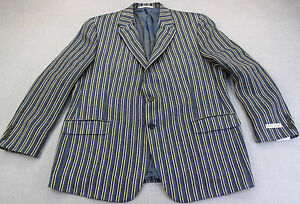 HICKEY-FREEMAN-LINDSEY-USA-BLUE-STRIPE-LINEN-SPORTCOAT-BLAZER-NWT-42-SHORT-1095