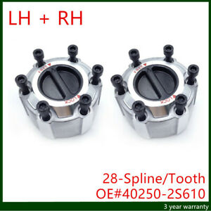 2x 28 Spline Tooth Manual Locking Hub For Nissan Pick Up D21 Navara 90 Up Ebay