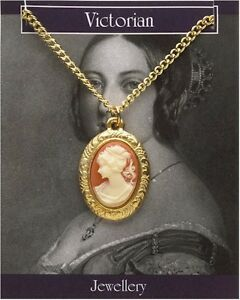 Victorian cameo pendantnecklace 22ct gold fancy dress ladies image is loading victorian cameo pendant necklace 22ct gold fancy dress aloadofball Choice Image