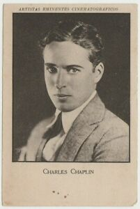 Charlie Chaplin 1920s Film Star PAPER STOCK Trading Card from Spain - Srs 9 #13