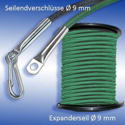 Gummiseil Planen 30m Monoflex Expanderseil ø 8mm grün