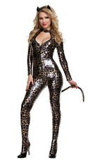 Leopard   Jumpsuit PU Leature Catwomen Clothes Halloween Party Role-playing Cat