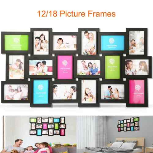 12//18 Photos Large Multi Picture Frame Collage Aperture Decor Memories US