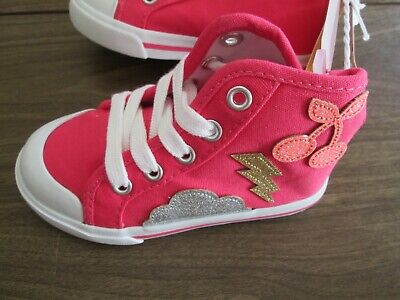 NWT Gymboree ENCHANTED WINTER Sparkle Pink Girls High Top Sneakers Shoes Size 7