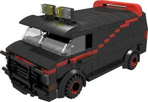CUSTOM building INSTRUCTION for ATEAM VAN male tank to build from LEGO parts - Exmouth, Devon, United Kingdom - CUSTOM building INSTRUCTION for ATEAM VAN male tank to build from LEGO parts - Exmouth, Devon, United Kingdom