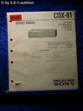 Sony Service Manual CDX 81 CD Changer (#3520)