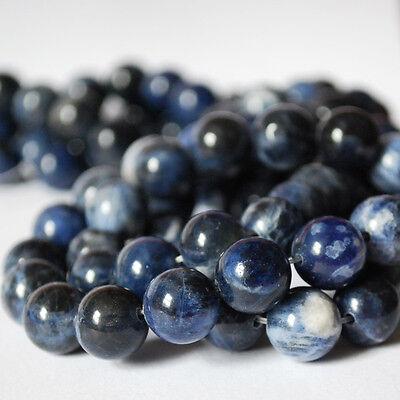"16"" Strand Semi Precious Gemstone Sodalite Jasper Round Beads 4, 6, 8, 10 mm"