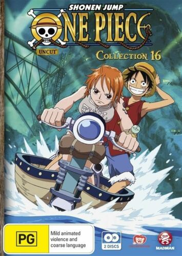 1 of 1 - One Piece - Uncut : Collection 16 : Eps 196-205 (DVD, 2011, 2-Disc Set)
