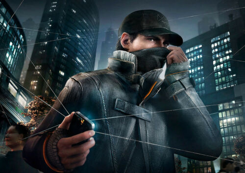 WATCHDOGS GAMING GLOSSY WALL ART POSTER PRINT A1 - A5 SIZES AVAILABLE