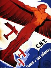 PROPAGANDA WAR SPANISH CIVIL REPUBLICAN CNT HERO ART POSTER PRINT PICTURE LV7114