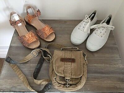 3 Xladies Scarpa & Bag Bundle. Animale Borsa, Fuori Fromunder Sandali, Nuovo Look Pompe. Uk 6- Design Professionale