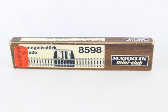 8598 Trenngleisstück gerade 110 mm Märklin Spur Z Neu & OVP
