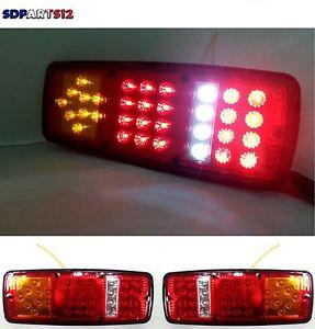 2x-12v-Led-Feux-Lampes-Arrieres-Camion-Remorque-Fourgon-Caravane-Camper-33-Led