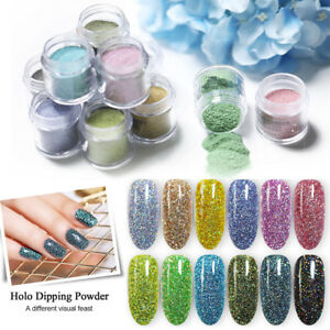 BORN-PRETTY-10ml-Holographic-Dipping-Acrylic-Powder-Glitter-Nail-Art