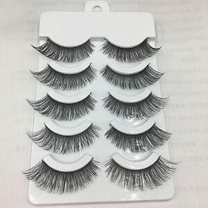 5-Pairs-Cross-False-Eyelashes-Makeup-Soft-Long-Thick-Eye-Lashes-Nautral-Handmade