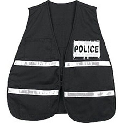 Incident Command Safety Vests - Black with Silver Stripes