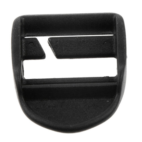 Quick Slide Keeper Buckle for Webbing Strap Belt Backpack Bag 25mm Black