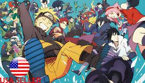 Naruto Sasuke Sakura Kakashi 42 X 24 Large Wall Poster Print Anime New 33 Ebay