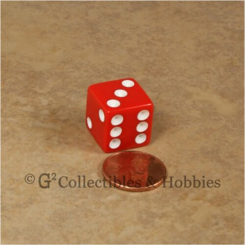Red Blue Green Yellow 16mm RPG Bunco Game D6 Koplow NEW Set of 12 Opaque Dice