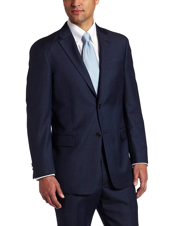 Tommy Hilfiger NEW Navy Blau  Herren Größe 42 Two Button Wool Blazer 425 024