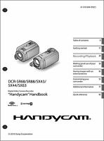 Sony Dcr-sr68 Dcr-sr88 Dcr-sx43 Sx63 Camcorder User Instruction Guide Manual