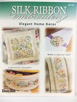 Silk Ribbon Embroidery Elegant Home Decor Bucilla Book Wth Transfer Sheets