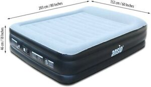 Air Bed Inflatable Blow Up Bed, Queen Size Air Mattress with Built in Electric