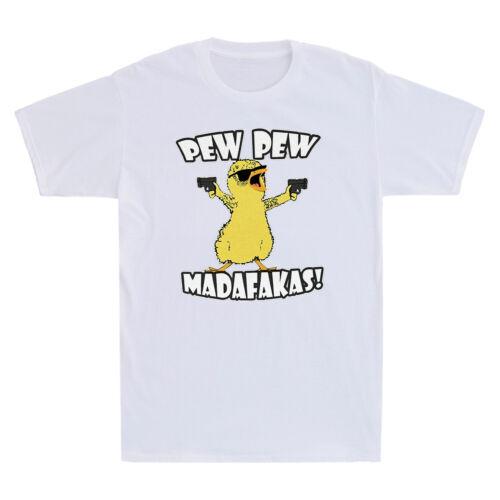 Chicken Pew Pew Madafakas Funny Chicken Gangster Meme Vintage Men/'s T-Shirt Tee