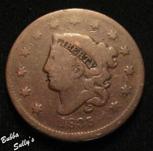 1835 Coronet Head Large Cent Very Good VG Early Copper 1c