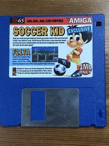 CU-Amiga-Magazine-Cover-Disk-65-Soccer-Kid-F117a-TESTED-WORKING