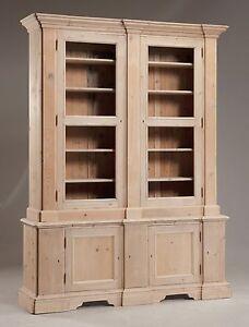 Dettagli su Libreria dispensa in legno al grezzo senza vetri cm 180 x 44 h  230 Nuova Unica