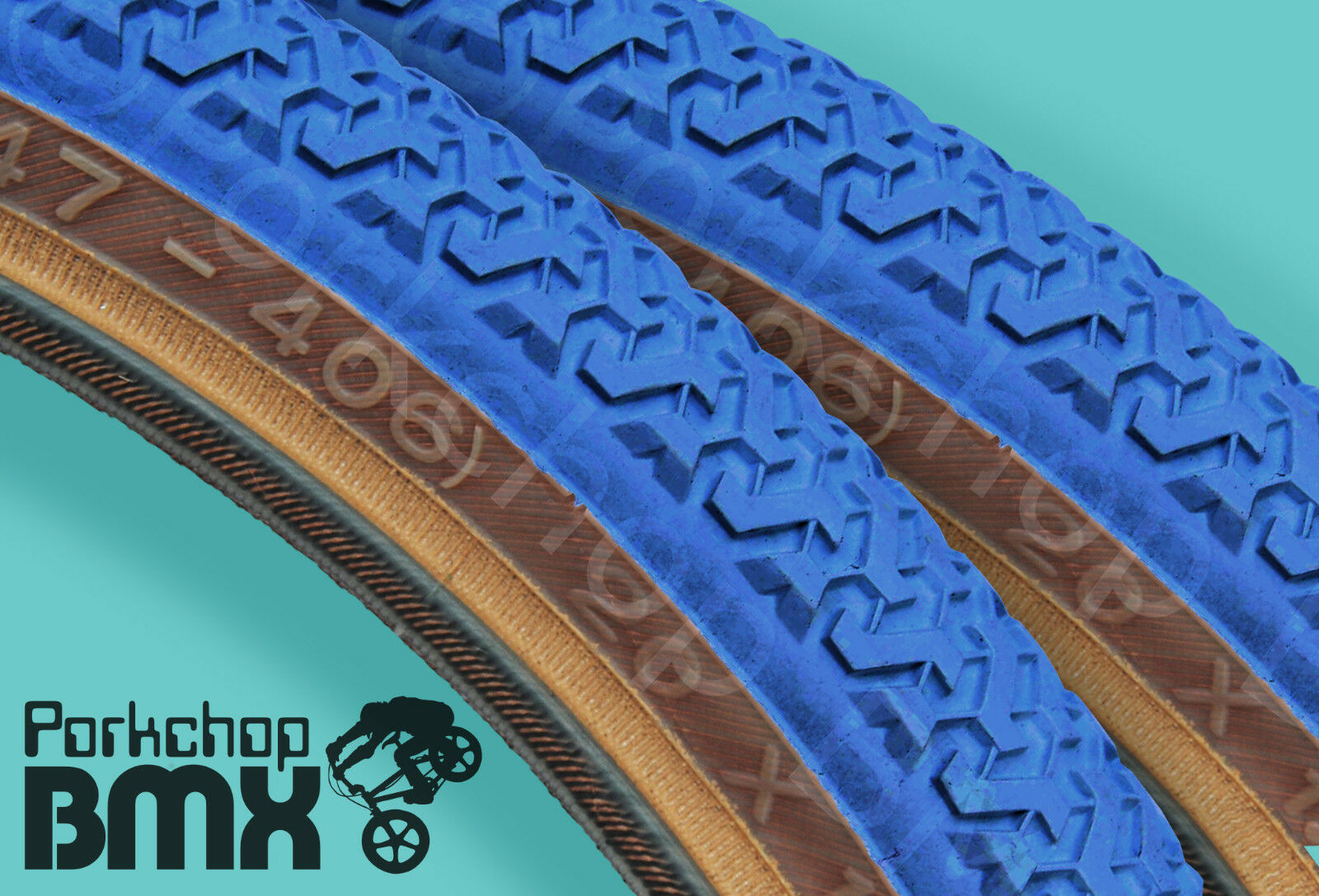Kenda K55 freestyle old school BMX skinwall gumwall tires PAIR  20  X 1.75  blueE  free shipping & exchanges.