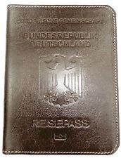 ~ ~ RFID Blocking PASSPORT WALLET HOLDER Vegetable Tanned Calfskin Leather GIFT