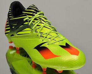 adidas Messi 15.1 FG AG mens soccer shoes cleats NEW bright green ... bbc02a6fb5dde