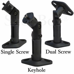 Details About Universal Black Wall Ceiling Mount Home Theater Surround Sound Speaker Bracket
