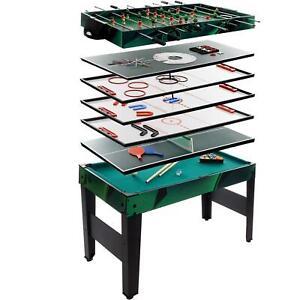 Multigame-Spieletisch-10-in-1-Kickertisch-Tischfussball-Billardtisch-Tischtennis