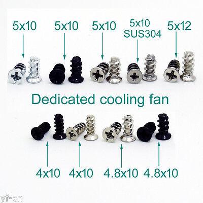 100Pcs KB5 Black Computer PC Case Cooling Fan Mount Screws For 7cm To12cm Fans