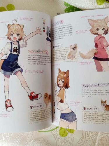 How To Draw Manga Kemomimi Character Technique Skill Book Japan