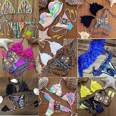 Vintage Swimwear Bikini Neoprene Swimsuits Bathing Suit Push Up Bikini Brazilian