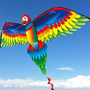 3D-Parrot-Kite-Outdoor-Fun-Sports-Beach-Single-Line-Kites-Children-Kids-Toy-Gift